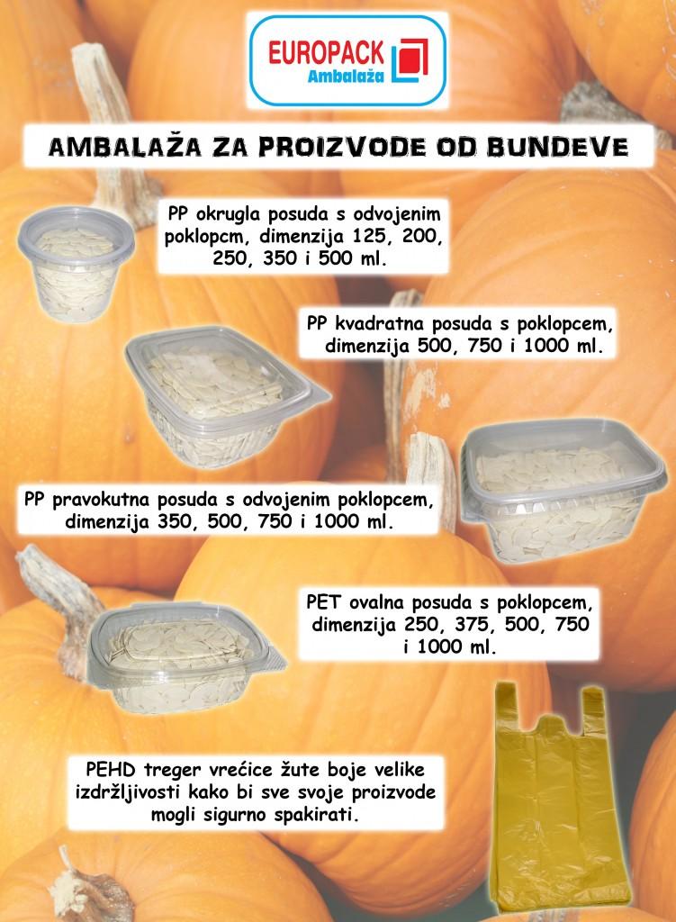 Ambalaža za proizvode od bundeve